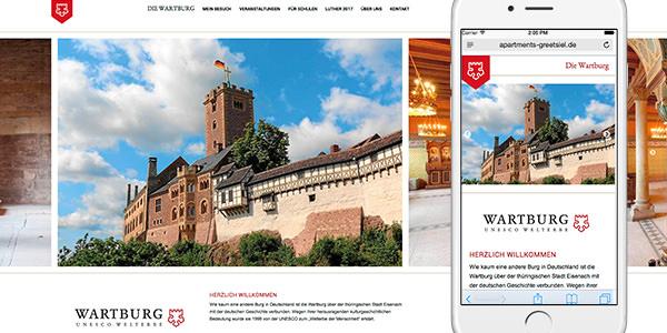 Neue mobile Webseite für die Wartburg